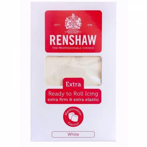 Pâte à Sucre Extra Blanche Renshaw Arôme Marshmallow (1 kg)