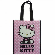 Sac Cabas Hello Kitty Mini Rose à pois