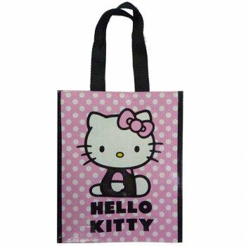 Sac Cabas Hello Kitty Mini Rose à pois