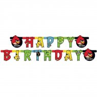 Guirlande lettres Happy Birthday Angry Birds