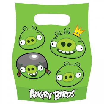 6 Pochettes à Cadeaux Angry Birds