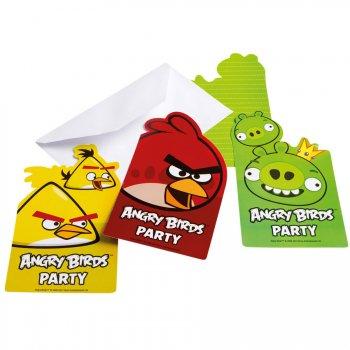 6 Invitations Angry Birds