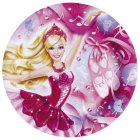 8 Assiettes Barbie Ballerine