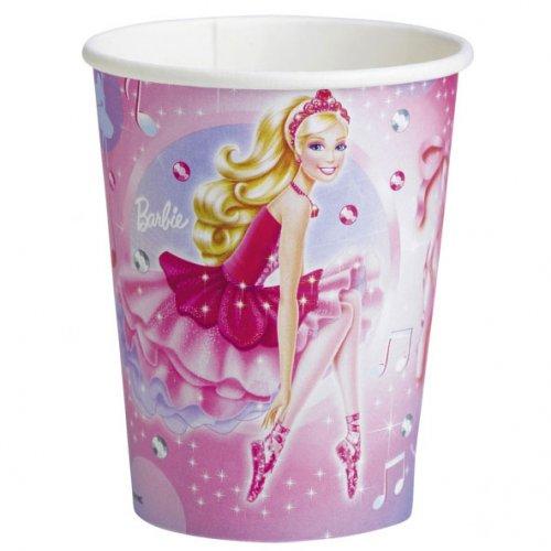 8 Gobelets Barbie Ballerine