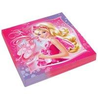 Contient : 1 x 20 Serviettes Barbie Ballerine