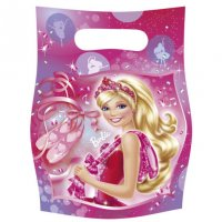 Contient : 1 x 6 Pochettes Cadeaux Barbie Ballerine