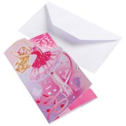 6 Invitations Barbie Ballerine