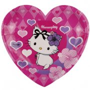 6 Assiettes Charmmy Kitty Coeur