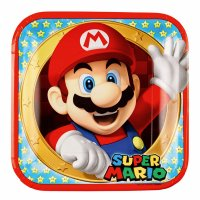 Contient : 1 x 8 Assiettes Mario Party