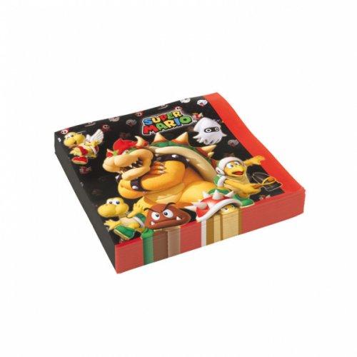 20 Serviettes Mario Party