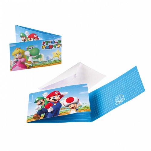 8 Invitations Mario Party