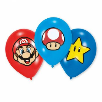 6 Ballons Mario Party Friends