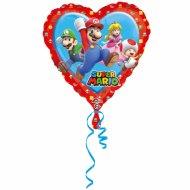 Ballon Hélium Mario Coeur