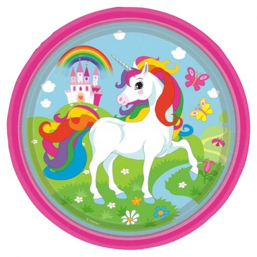 8 Assiettes Licorne Rainbow
