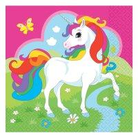 Contient : 1 x 20 Serviettes Licorne Rainbow