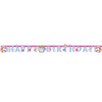 Guirlande Happy Birthday Licorne Rainbow