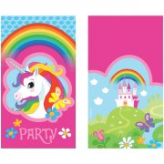 8 Invitations Licorne Rainbow