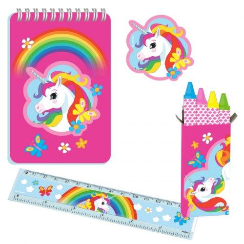 5 Sets Papeterie Licorne Rainbow
