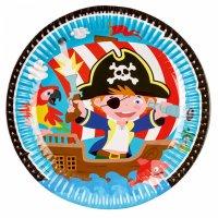 Contient : 1 x 8 Assiettes Petit Pirate et ses amis