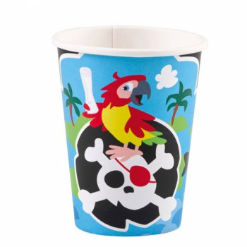 8 Gobelets Petit Pirate et ses amis