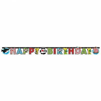 Guirlande Happy Birthday Petit Pirate et ses amis
