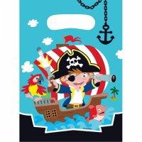 Contient : 1 x 8 Pochettes Cadeaux Petit Pirate et ses amis