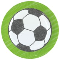 Contient : 1 x 8 Assiettes Football Match