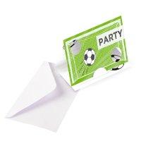 Contient : 1 x 8 Invitations Football Match