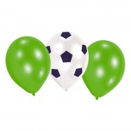 6 Ballons Football Match
