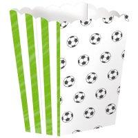 Contient : 1 x 4 Boîtes à Popcorn Football Match