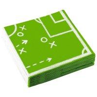 Contient : 1 x 2 Serviettes Football Match