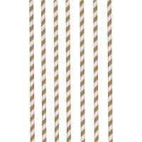 Contient : 1 x 12 Pailles Papier Rayures Chocolat