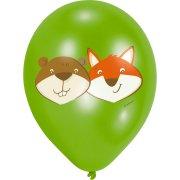 6 Ballons Renard et Castor