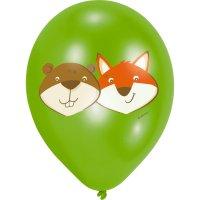 Contient : 1 x 6 Ballons Renard et Castor
