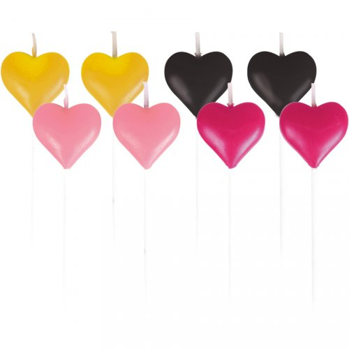 8 Mini Bougies Coeurs Love