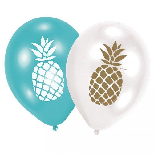 6 Ballons Ananas Fun
