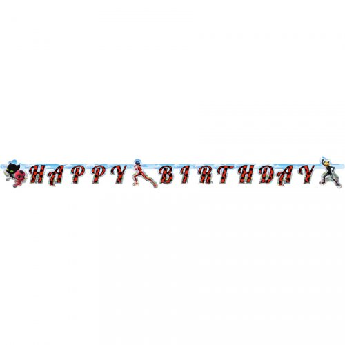 Guirlande Happy Birthday Miraculous (1,80 m)