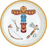 8 Petites Assiettes Indiens et Tipi