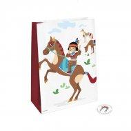 4 Pochettes Cadeaux Indiens et Tipi - Papier