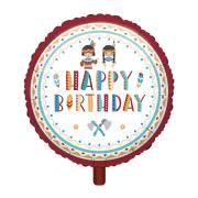 Ballon Gonflé à l'Hélium Happy Birthday - Indiens et Tipi