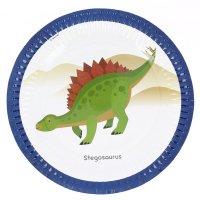 Contient : 1 x 8 Assiettes Happy Dino