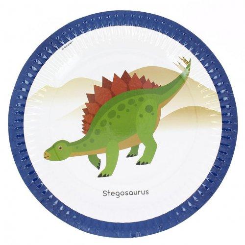 8 Assiettes Happy Dino