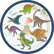 8 Petites Assiettes Happy Dino