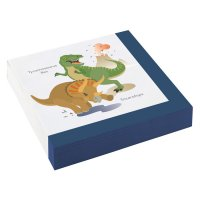 Contient : 1 x 20 Serviettes Happy Dino