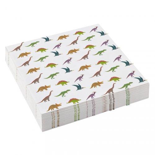 20 Petites Serviettes Happy Dino