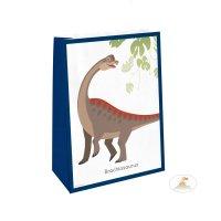 Contient : 1 x 4 Pochettes Cadeaux Happy Dino - Papier