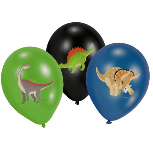 6 Ballons Happy Dino