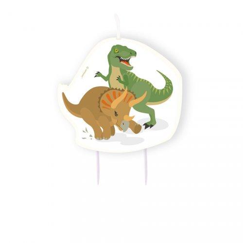 1 Maxi Bougie Happy Dino (8,5 cm)
