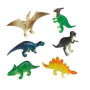 8 Figurines Happy Dino (6 cm) - Plastique