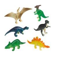 Contient : 1 x 8 Figurines Happy Dino (6 cm) - Plastique